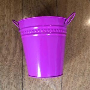 New Hot Pink Decorative Metal Bucket